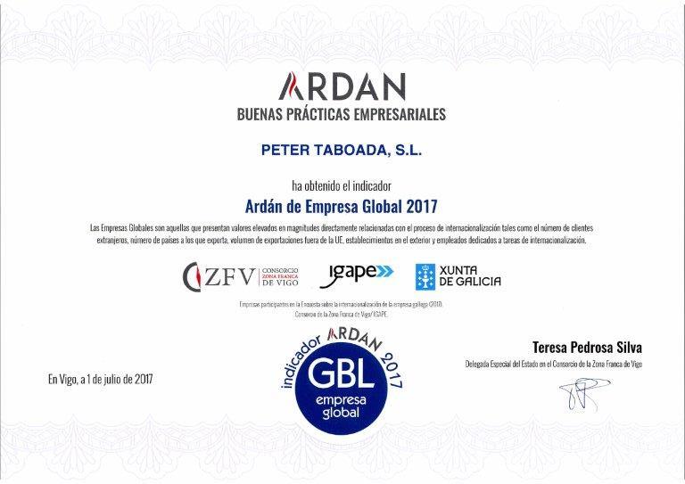 Ardán empresa global 2017
