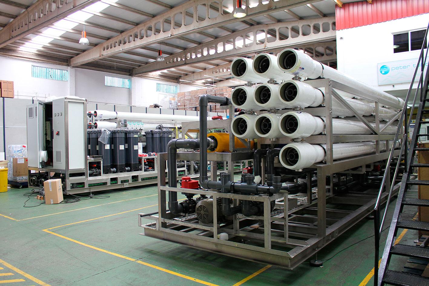 Instalaciones de Peter Taboada, desalinización y potabilización de agua